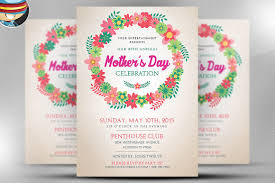 mother s day flyer template flyer templates on creative market