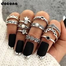 <b>Docona Bohemian Gold Color</b> Drop Earrings For Women Girl ...