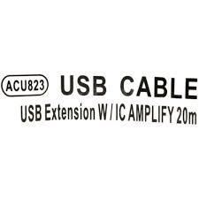 Удлинитель активный <b>USB 2.0</b> A -> A <b>Aopen</b> ACU823-20м 20 ...