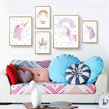 <b>Nordic</b> Wall Art <b>Stijl Kids</b> Poster Prints Cute AnimalUnicorn Eyelash ...