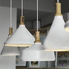Large <b>Pendant</b> Lighting With <b>Wood</b> Holder, <b>Aluminum Modern</b> And ...