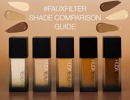Your Ultimate #FauxFilter Shade Comparison Guide - <b>Huda Beauty</b>