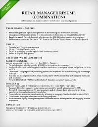 retail sales associate resume sample  amp  writing guide   rgretail manager combination resume sample