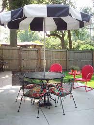 dark patio set black wrought iron patio furniture on concrete flooring