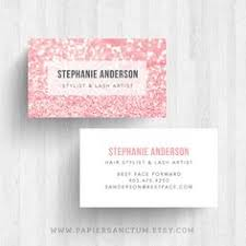 250 custom glitter business card calling card makeup artist card on etsy 30 00