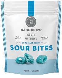<b>Blue</b> Raspberry Sour <b>Bites</b> – Hammond's <b>Candies</b>