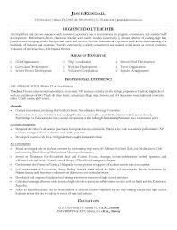 sample resume high school student resume templates no  resume    high school teacher resume with areas expertise professional experience and education histoy