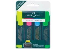 <b>Маркер Faber Castell Textliner Refill</b> 1548 1 5mm 4 цвета 154804 ...