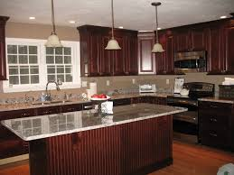 dishy kitchen counter decorating ideas: divine dark brown westren kitchen ideas with pleasant cabinet and fashionable drawer plus magnificent glossy countertop