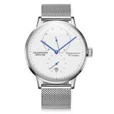 <b>GUANQIN Men Steel Net</b> Band Automatic Mechanical Watch only ...