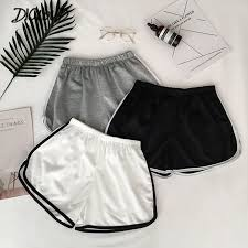 2019 Simple <b>Women</b> Casual Shorts Patchwork Body Fitness ...
