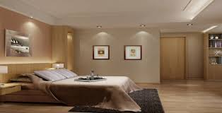 l warm accent wall paint color scheme of master bedroom design with charming recessed lighting decor as well as low wooden platform bed on grey rectangle bedroom recessed lighting