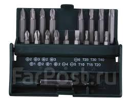 <b>Набор бит Kraftool</b> с магнитным адаптером в бит-боксе,18 предм ...