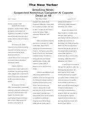 al capone study resourcesal capone essays