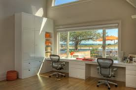 beach style home office by david howell design a home office