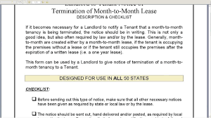 notice of termination of month to month lease notice of termination of month to month lease