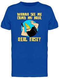 <b>Johnny Bravo</b> See Me Comb My Hair Men Royal Blue T shirt ...