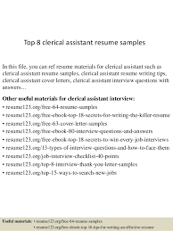 top  clerical assistant resume samplestop  clerical assistant resume samples in this file  you can ref resume materials for