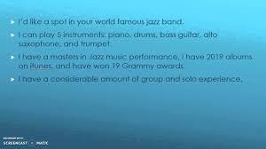 elevator pitch musician elevator pitch musician