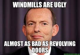 Windmills are ugly - Almost as bad as revolving doors - Tony ... via Relatably.com