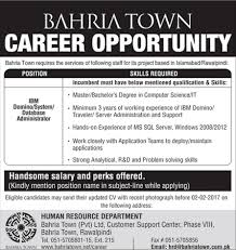 job opportunity at bahria town jobzbaba jung