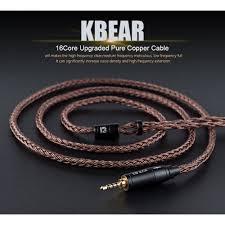 <b>KBEAR 16</b> Core Upgraded <b>Pure Copper</b> Balanced Cable MMCX ...