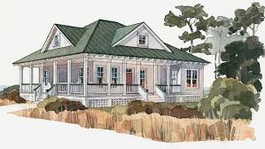 Low Country House Plans and Tidewater Designs at BuilderHousePlans comLow Country Style House   Plan HWBDO