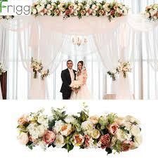 2019 <b>Frigg 1M Artificial Rose</b> Flower Row Wedding Decor Flower ...