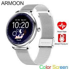 <b>ARMOON</b> NY12 Round Smart Watch Women Girl Lady Fashion ...