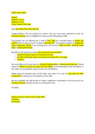 fantastic offer letter templates employment counter offer job offer letter 42