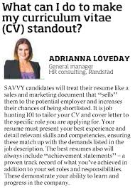 how do i make my curriculum vitae  cv  stand out  http        how do i make my curriculum vitae  cv  stand out  http     randstad com au about randstad randstad in the news how do i make my curriculum vitae cv stand