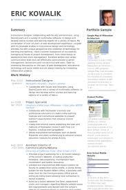 Instructional Designer Resume Samples   VisualCV Resume Samples