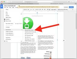 ways to convert pdf to word docx in mac os convert pdf file to docx word in google docs