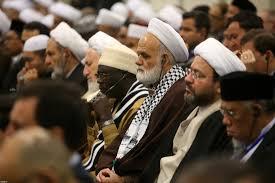 Image result for رهبر انقلاب در جمع میهمانان کنفرانس وحدت اسلامی