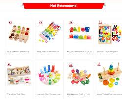 Baby <b>Wooden</b> Montessori Sensory Material Toy <b>Kids Preschool</b> ...