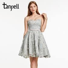 <b>Tanpell</b> short cocktail <b>dress</b> gray bowknot sleeveless above knee a ...