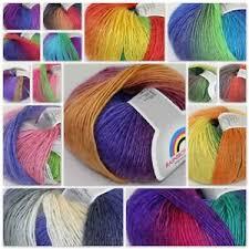 <b>Sale</b> Cashmere Wool Colorful Rainbow Hand Knit Yarn <b>50gr</b> ball ...