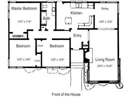 Bungalow Floor Plan On d House Plans For A Bedroom Ranch     bedroom ranch house floor