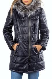 <b>Кожаная куртка MIO CALVINO</b> арт MIOAK10064W_NAVY BLUE ...