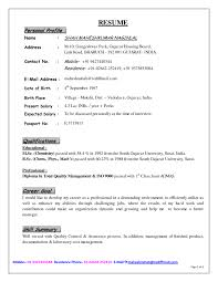 example resume profile template example resume profile