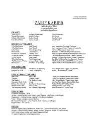 zarif kabier columbia university actors graduate theatre click this image for the pdf resume