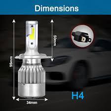 Lighting & Lamps 2x <b>C6</b> 9003 HB2 H4 120W 72000LM <b>Car LED</b> ...
