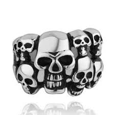fashion brand vintage skull rings jewelry men ring <b>316L stainless</b> ...