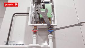 Монтаж <b>проточного водонагревателя Thermex</b> Topflow - YouTube