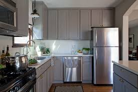 Grey Stained Kitchen Cabinets Leather White Chairs Dark Gray Stained Kitchen Cabinets Elegant