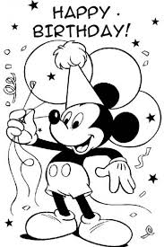 Small Picture Mickey Mouse Birthday coloring page free printable Max