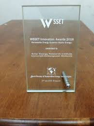 solar energy research institute seri energy and mr azher m abed under energy efficiency absorption cooling system won world society of sustable energy technologies wsset innovation