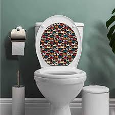 Auraise Heybee <b>Cats Bathroom</b> Wall <b>Stickers Toilet Home</b> ...