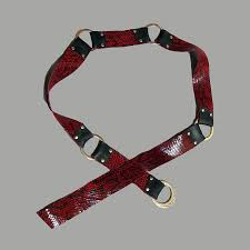 <b>Red</b> black snake <b>embossed</b> reversible <b>belt</b> - Engayla Unique Clothing