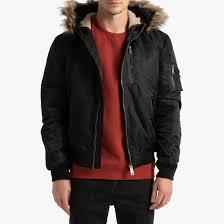 <b>Куртка</b>-<b>бомбер</b> с капюшоном, n2b 28 черный Schott (шотт) | <b>La</b> ...